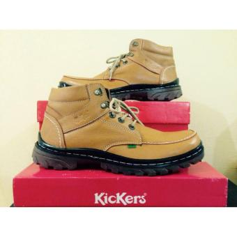 Harga Kickers Sepatu Boots Kulit Asli Model KR 078 Coklat - PriceNia.com f061be22f2