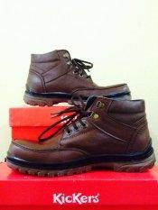 Kickers Sepatu Pria Bots Kulit Asli Model KR 007 Brown