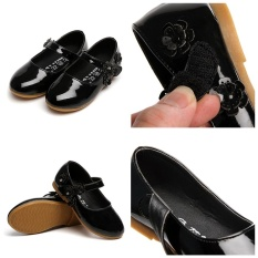 Kid Flat Shoes With Flower For Party Wedding Girl Shoes Princess Shoes For 3-10 Years - intl