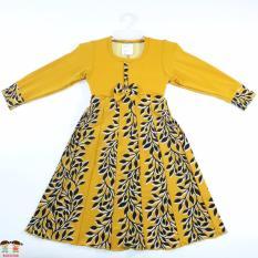 KidstaFUN Gamis Baju Muslim Anak / Balita Perempuan Lengan Panjang Varian Pita 2 Tahun - Multicolor