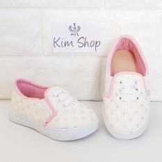 Kim Sepatu Anak Slip On Loafer Perempuan MCP2 - Putih Pink