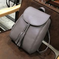 Korea Fashion Style perempuan kulit yang lembut Mini tas kecil tas ransel ( Abu-abu