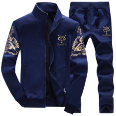 Korea Fashion Style pria musim semi dan musim gugur yard besar pakaian pria sweater (Biru)