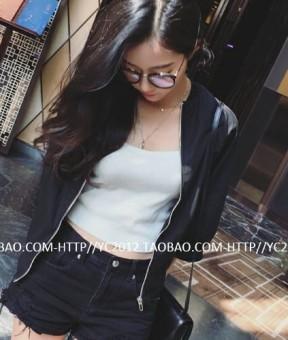 Korea Fashion Style semi dan pakaian wanita jaket (Hitam) (Hitam)