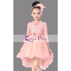 Korea Pink Peach Tail Tutu Dress