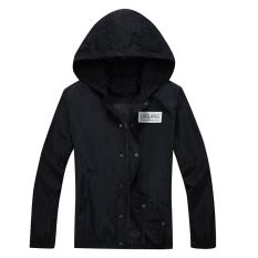 Korean Autumn New Simple Long-sleeved Jacket (Black)