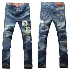 Korean Style Men's Fashion Jeans (Blue) (Intl)