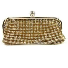 KUNPENG Evening Party Crystal Bag Handbag Gold