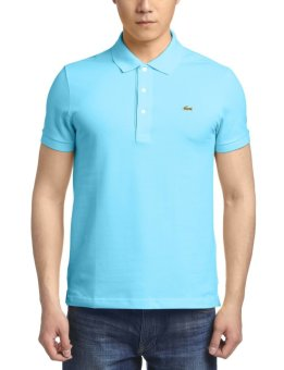 Lacoste Men s Classic Pique L.12.12 Original Fit Polo Shirt CORSICA AQUA -  Intl 5be480d3d5