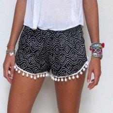 Ladies Sexy Hot Pants Summer Casual Shorts High Waist Shorts Beach Black - Intl
