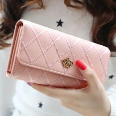 Lady Women Clutch Long Purse Leather Wallet Card Holder Handbag Bags Pink