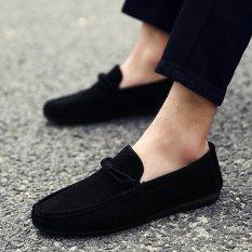 Laki-Laki Berduyun-Duyun Cahaya Mengemudi Nyaman Sepatu Sepatu Hitam