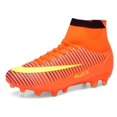 Laki-Laki Profesional Sepak Bola Sepatu Sepak Bola Sepatu Tinggi Lonjakan Pelatihan Atletik Sepatu Jeruk