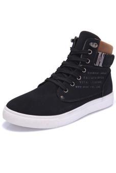 LALANG Casual Men High Cut Canvas Shoes Sneakers Sports Black