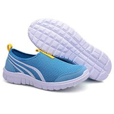 LALANG New Fashion Women Casual Shoes Cheap Walking Flats Shoes Breathable Blue - Intl