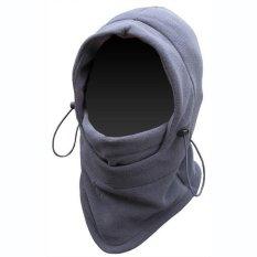 Lbag Masker Buff Balaclava Multifungsi Ninja Kupluk Polar 6 In 1 Full Face Abu