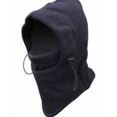 Lbag Masker Buff Balaclava Multifungsi Ninja Kupluk Polar 6 In 1 Full Face Black fleece