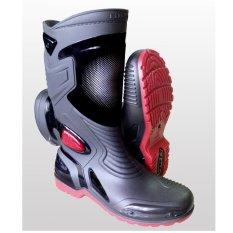 Lbag Sepatu Karet Pvc Anti Tembus Air Banjir Hujan Ap Boots Moto 3 Moto3 Sepatu touring cross trail balap drag Anti Air AP BOOTS