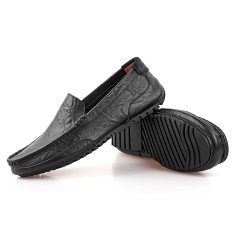 LBW Summer Breathable Leather Shoes Shoes Leather Shoes (Black) (Intl)