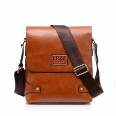 Leather Briefcase Casual Business Messenger Crossbody Handbag