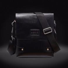 Leather Briefcase Casual Business Messenger Crossbody Handbag Black - Intl (Intl)