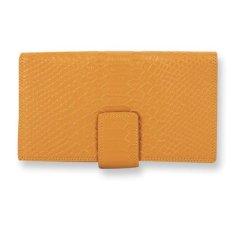 Leather Long Wallet For Women Passport Bankbook JULIAN NEO Long Wallet - Yellow