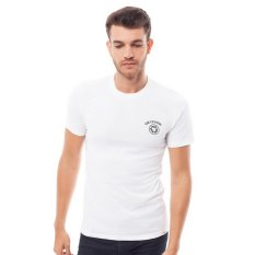 Lee Cooper Kaos Pria Slim Fit White Danny Record