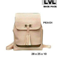 Lestari Fashion Tas Ransel Back Pack Wanita RMBY 001 Peach .