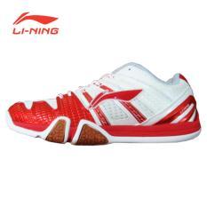 Li-Ning Badminton Shoes Saga Matrix - Putih-Merah