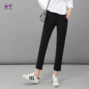 Likener Trend Pergelangan Kaki Langsing - panjang celana formal celana (Hitam)