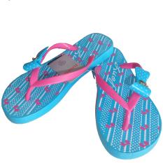 LUOFU Fashion Sandal Flat Wanita (Aqua Blue)