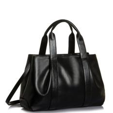 Luxury Women Leather Handbag Crossbody Shoulder Messenger Bag Large Tote Black