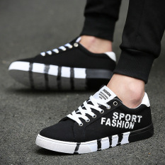 Male Korean Canvas Shoes Fashion Men Casual Shoes Low-cut Lace-up Students All-match Sports Shoes