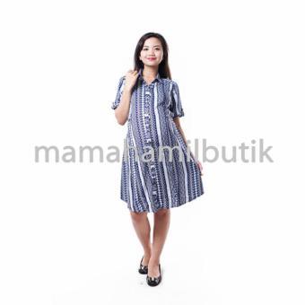 Harga Mama Hamil Baju Hamil Dress Menyusui Kerja Katun Batik