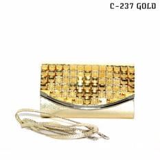 Marlee C-237 Clutch Wanita - Gold