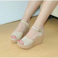 Marlee DK-09 Wedges Sandal - Cream