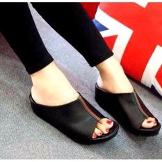 Marlee DK-10 Wedges Sandal Wanita - Hitam