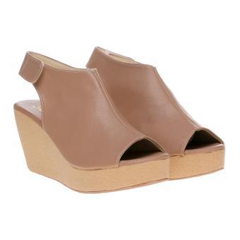 Marlee LU-03 Wedges Sandal Open Toe - Moca