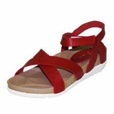Marlee RO-01 Sandal Cross Strap Platform Anak - Merah