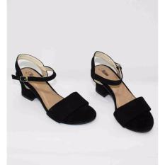 Marlee UK-01 Wedges Heels Wanita - Hitam