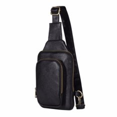 Marlow Jean Tas Selempang Single Shoulder Strap Premium Leather Tas Selempang Shoulder Bag Pria Bahan Kulit - Hitam