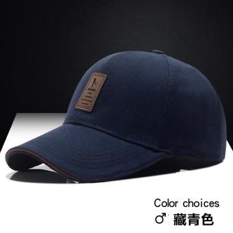 Matahari Korea Fashion Style musim panas topi topi baseball cap (Biru tua)