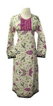 Mayura Batik Gamis Batik Secret Beauty - Putih