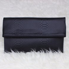 Mazuya Kalisha Tas Women Woman Wanita Pesta Leather Clutch Bag - Hitam