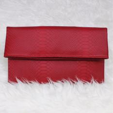 Mazuya Kalisha Tas Women Woman Wanita Pesta Leather Clutch Bag - Merah