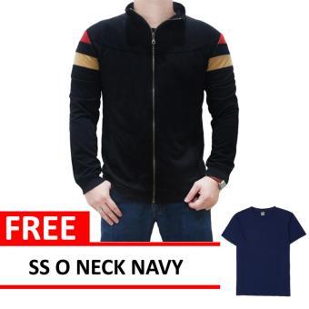 Mazzo Jacket Black Free SS O Neck Navy