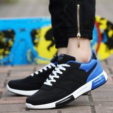 Men Casual Shoes For Men Trainers Walking Shoes Fashion Shoes Male (Black)