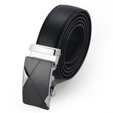 Men Genuine Leather Belt Luxury Black Brand Cowhide Business Leather Auto Buckle Waistband