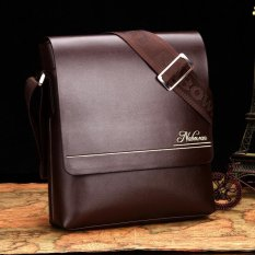 Men Leather Crossbody Bag Color Coffee Size:22*6*26cm - Intl
