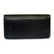 Men Long Wallet Zipper Credit Cards Mobile Phone Holder (Black) - intl